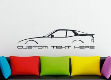 Large Custom car silhouette wall sticker - for Porsche 924 S | 2.5